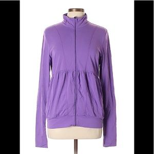 Lucy Purple Zip-up Track Jacket: M